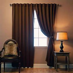 chocolate blackout curtains solid thermal insulated blackout curtains two panels