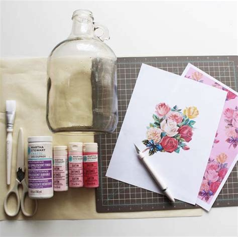 Materials For Decoupage - using decoupage to beautify your empty bottles martha