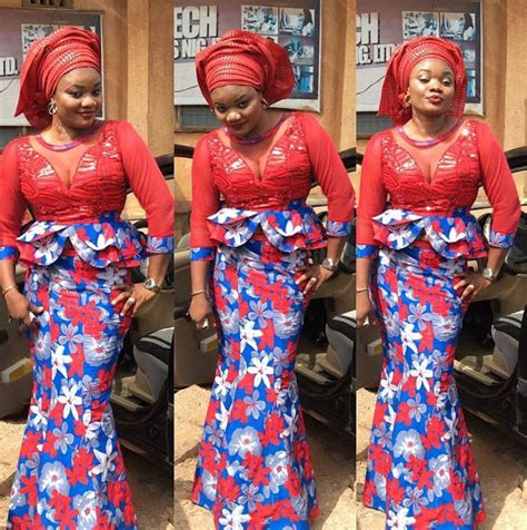 Two Colour Rle Blouse Ree ankara skirt and blouse combinations style dezango