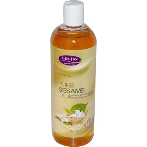 light sesame oil for skin life flo health pure sesame oil skin care 16 fl oz 473
