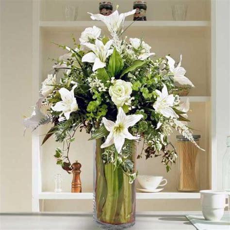 Flower Vase Shop Singapore by Artificial Silk Flowers Arrangement