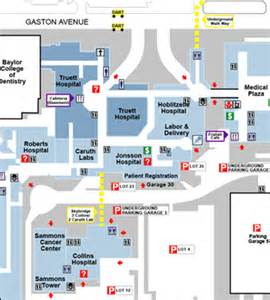Baylor Dallas Map by Truett Hospital