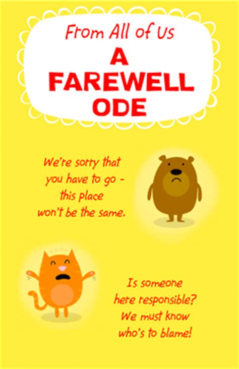 farewell card template free a farewell ode greeting card luck printable card