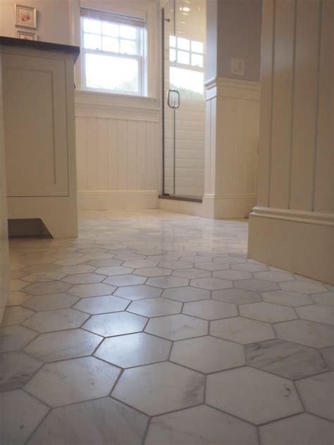 marble hex tile bathroom floor tile design ideas