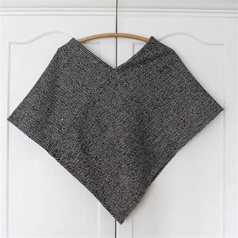 fabric pattern poncho ponchos wool poncho and wool on pinterest