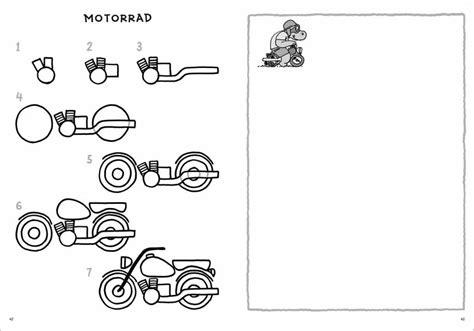 Motorrad Buch Kinder by Schritt F 252 R Schritt Fahrzeuge Zeichnen Norbert