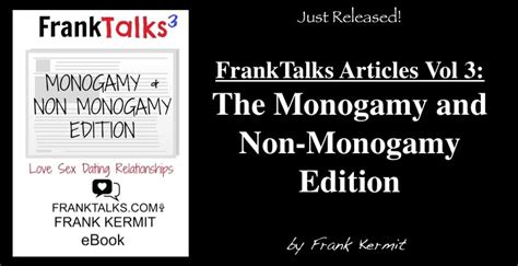 monogamy with treats vol 1 volume 1 books frank kermit franktalks