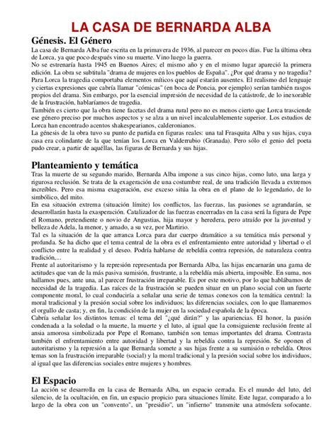 resumen del libro de la casa de bernarda alba la casa de bernarda alba analisis de personajes y situaci 243 n