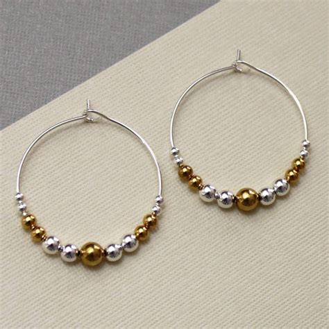 Beaded Hoop beaded hoop earrings by completely charmed