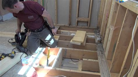 Story Bathroom by Bathroom Remodeling Part 7 Framing Openings In Floor Joists