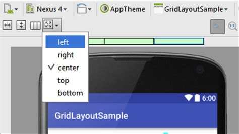 android studio layout manager using the android 6 gridlayout manager in android studio