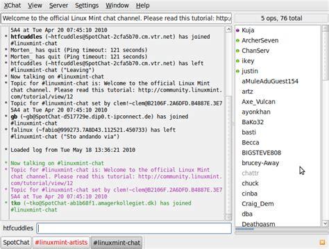 xchat tutorial linux xchat linux mint community