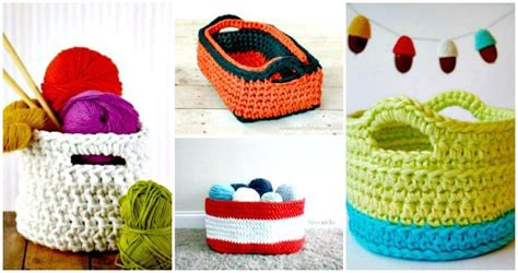 www coatsandclark crafts crochet projects 45 free crochet basket patterns for beginners diy crafts
