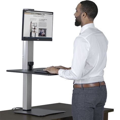 high supply standing desk victor dc400 high rise electric single monitor height