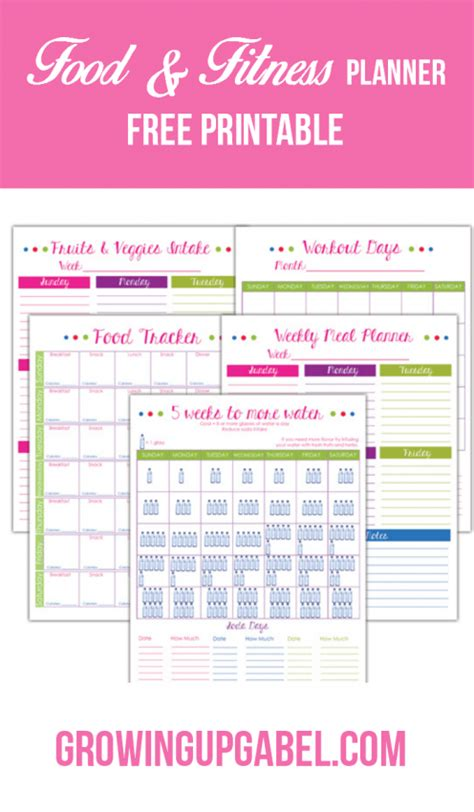 free printable fitness planner 2016 plan for 2016 with free printables