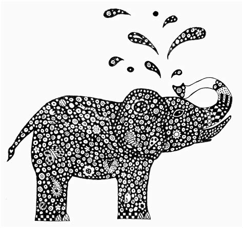 zen coloring pages elephant adult colouring elephants zentangles on pinterest