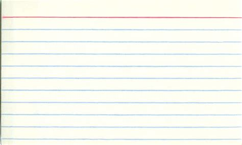 3x5 index card template with lines blank index card for all you diy ers out there here s