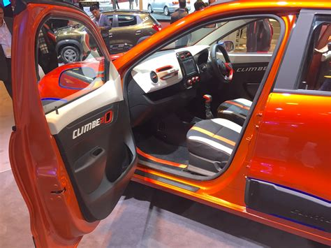renault climber interior renault kwid climber interiors at auto expo 2016 indian