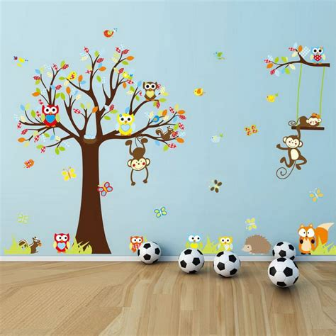 With cartoon animals eco friendly wall stickers currrently viewing