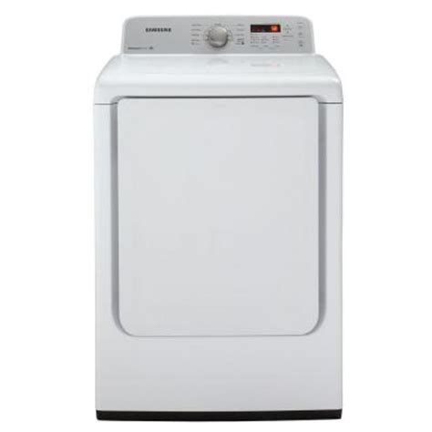 samsung 7 2 cu ft gas dryer in white dv400gwhdwr the
