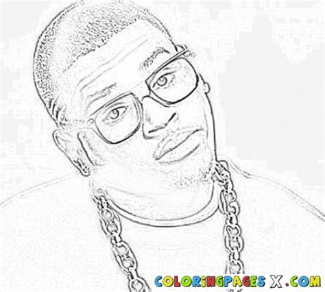 Chris Brown Coloring Pages painted by