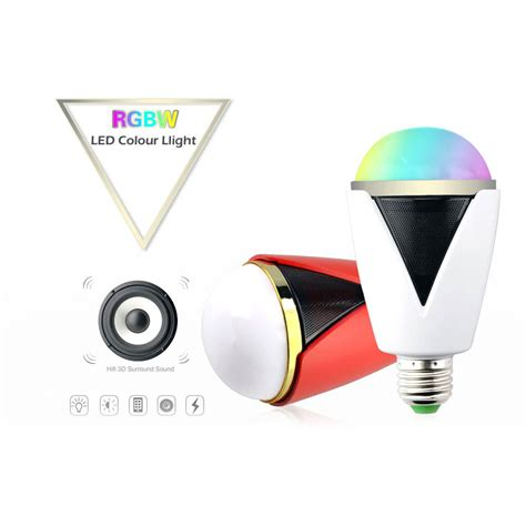 Smart Multicolor Bulb Bluetooth Speaker smart player rgbw intelligent l bulb e27 e26 bluetooth speaker multicolor led