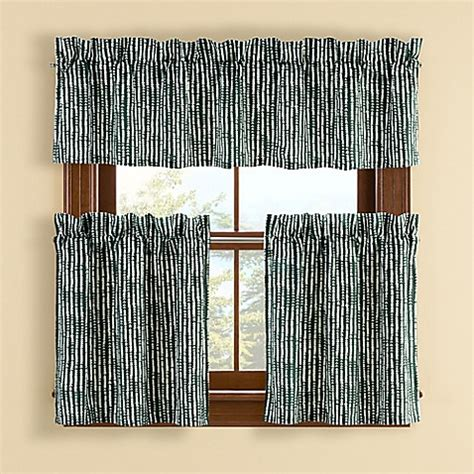 bed bath and beyond boulder buy boulder 24 inch window curtain tier pair in pine from