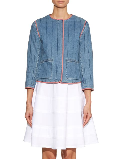 Quilted Denim Jacket by Bruno Ath 233 Emeric Quilted Denim Jacket In