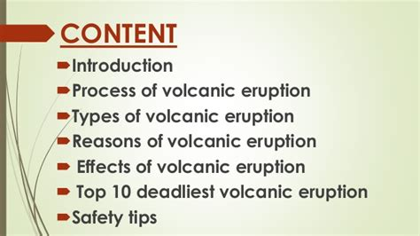 list of volcanic eruptions volcanic eruption