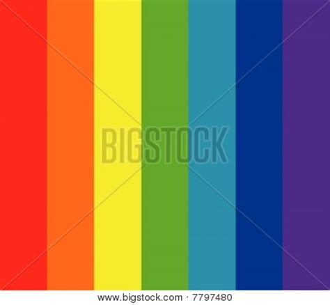 what are the seven colors of the rainbow seven rainbow colors background stock vector stock