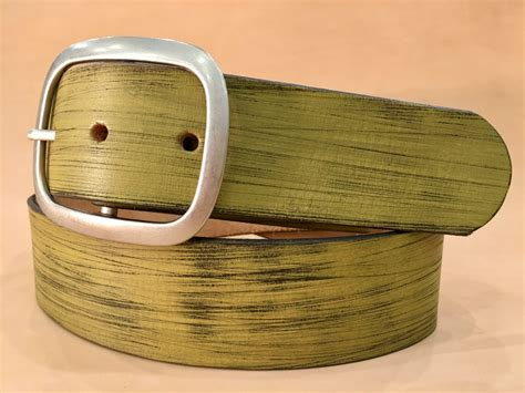 Handmade Belts Usa - olive green distressed leather belt regan flegan