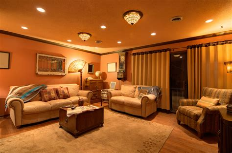 lights with home 7 top family room lighting ideas cowhide rug tips and