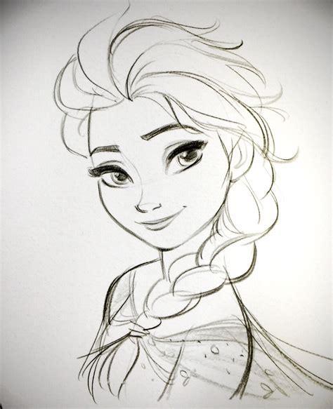 doodle sketch frozen elsa jin pinteres