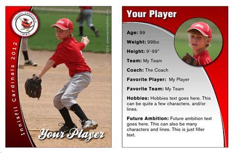 Baseball Card Stats Template