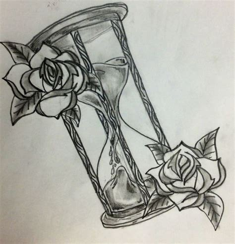 tattoo old school clessidra disegno per tattoo clessidra con rose tatuaggi