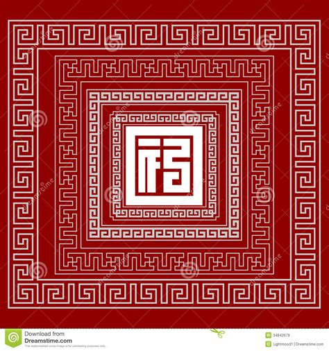 chinese pattern and meaning the frames of chinese style royalty free stock images