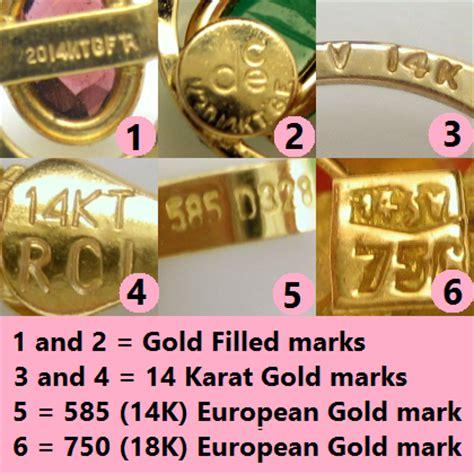 Jewelry Markings Symbols