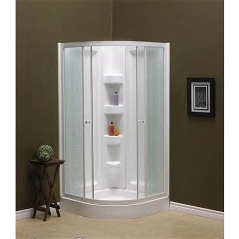 shower packages bathroom mirolin sorrento 38 inch acrylic round front shower
