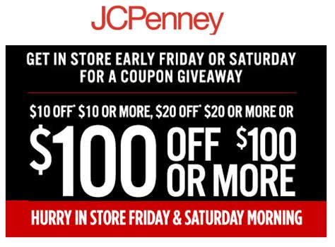 Jcpenney Giveaway Coupons 2017 - free stuff at jcpenney jcpenney in store coupon giveaway get 10 off 10 20 off 20 or 100