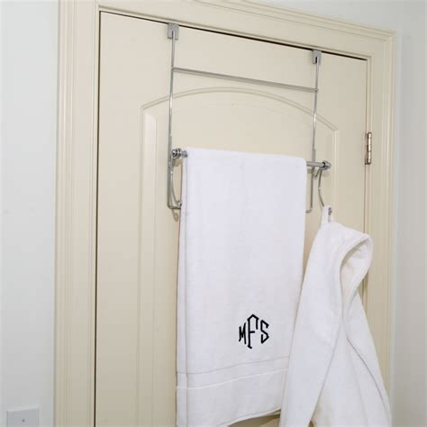 bathroom door rack simple bathroom with over door towel rack hammacher