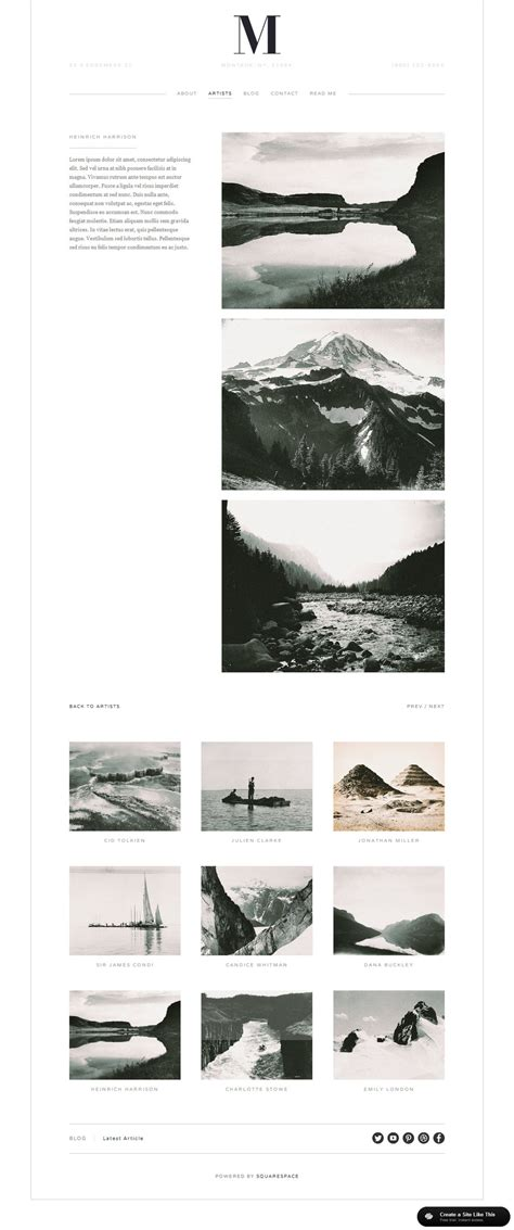 Squarespace Templates Your Guide To Planning Squarespace Design Big Picture Web Squarespace Templates For Photographers