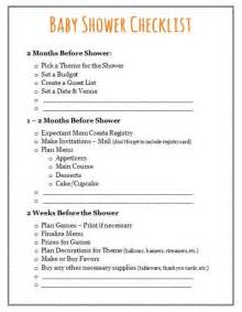 Baby Shower Planning List by 17 Best Ideas About Baby Shower Checklist On