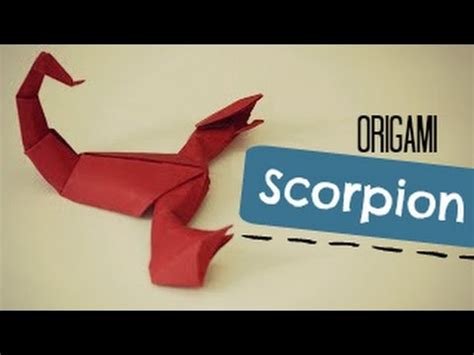 How To Make A Paper Scorpion - how to make an origami scorpion jozsef zsebe