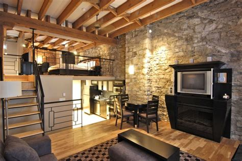 appartment montreal stone deluxe loft charming old montreal 1 br vacation