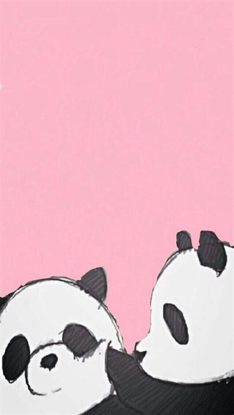 gambar panda wallpaper  pink wallpaper iphone