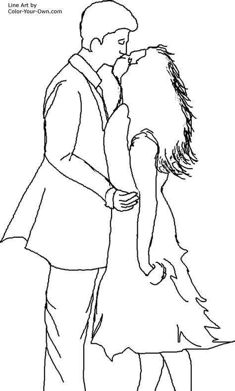 kissing coloring gallery
