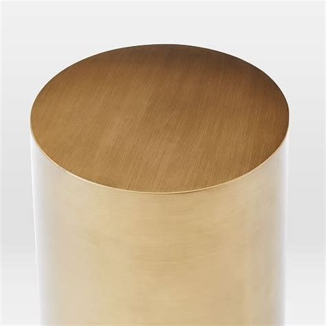 Drum Side Table Metal Drum Side Table West Elm