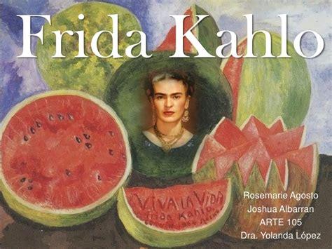 imagenes artisticas y su significado frida kahlo presentation pdf