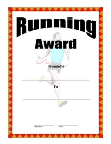 running certificate templates certificate of achievement in running three success