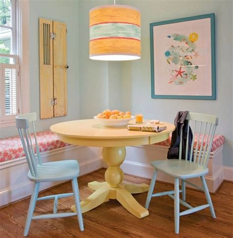 Small Bathroom Ideas Paint Colors by Small Yet Comfy Dining Room With Yellow Round Dining Table